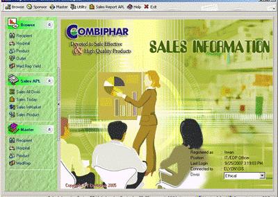Sales Information System PT Combiphar & PT Rukun Andal