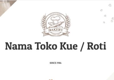 Website Toko Roti Kue Bakery Pastry