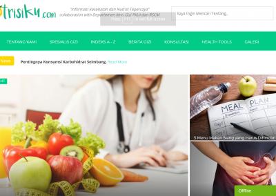 Website Departemen Ilmu Gizi FKUI dan RSCM